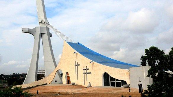 CATTEDRALI: LA MIA. Ivory Coast, Abidjan - St Paul Cathedral